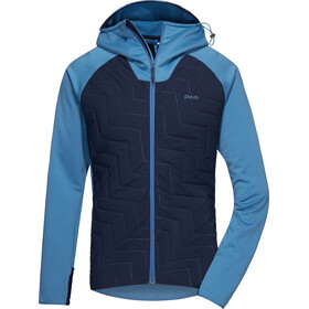 PYUA Snug-Y Hooded Hybrid Jacket Men stellar blue/navy blue